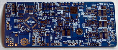 Front view of the CANesys PCB